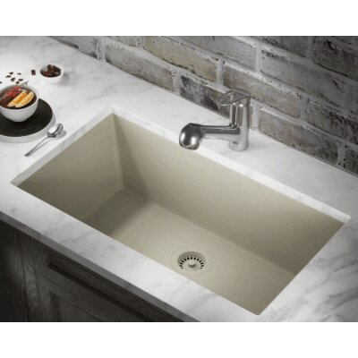 32.63 x 18.38 Single Bowl Undermount Kitchen Sink Finish: Slate