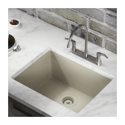 21.63 x 16.88 Single Bowl AstraGranite Kitchen Sink Finish: Slate