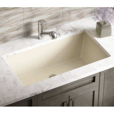 32.63 x 18.38 Single Bowl Undermount Kitchen Sink Finish: Beige