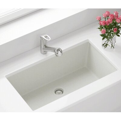 32.63 x 18.38 Single Bowl Undermount Kitchen Sink Finish: White
