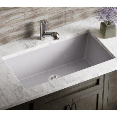 32.63 x 18.38 Single Bowl Undermount Kitchen Sink Finish: Silver