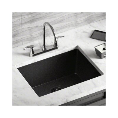21.63 x 16.88 Single Bowl AstraGranite Kitchen Sink Finish: Black