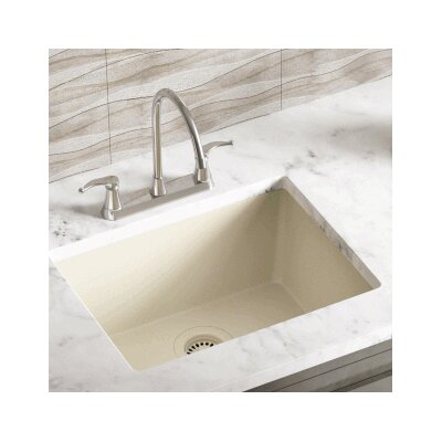 21.63 x 16.88 Single Bowl AstraGranite Kitchen Sink Finish: Beige