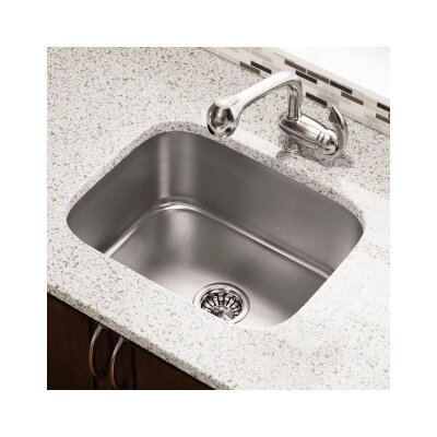 23.5 x 18.25 Single Bowl Undermount Stainless Steel Kitchen Sink