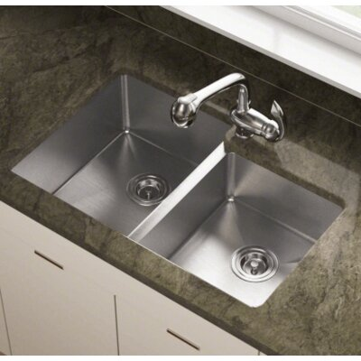 31.25 x 20.5 Double Undermount Kitchen Sink