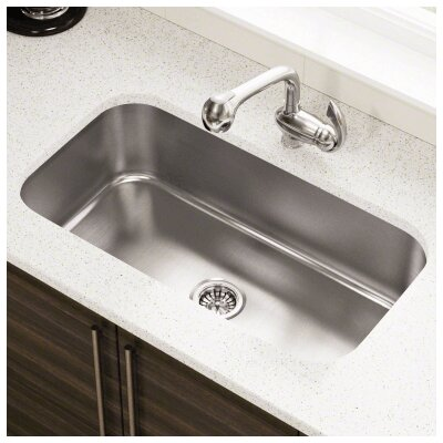 32.25 x 18 Single Bowl Undermount Stainless Steel Kitchen Sink
