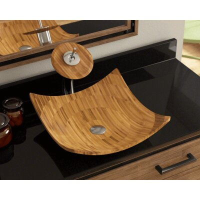 Bamboo Square Vessel Bathroom Sink