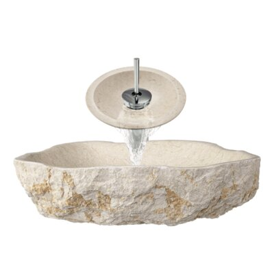 Galaga Marble Specialty Specialty Vessel Bathroom Sink with Faucet