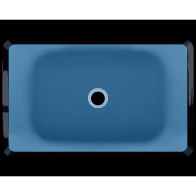 Glass Rectangular Vessel Bathroom Sink Sink Finish: Aqua