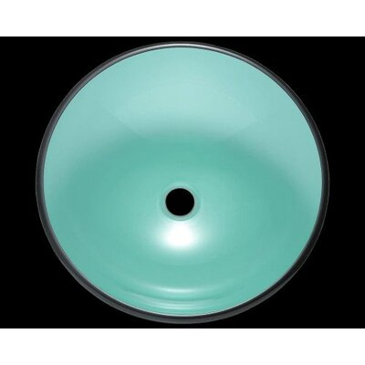 Glass Circular Vessel Bathroom Sink Sink Finish: Emerald