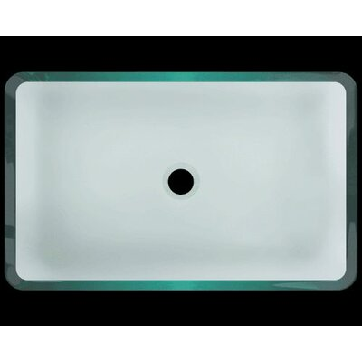 Glass Rectangular Vessel Bathroom Sink Sink Finish: Clear