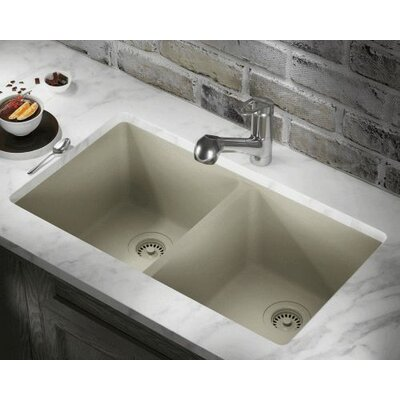 32.5 x 18.63 Double Equal Bowl AstraGranite Kitchen Sink Finish: Slate
