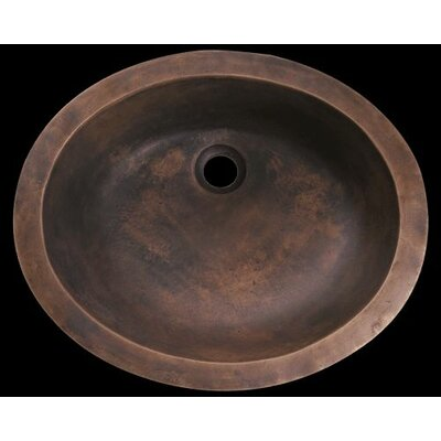 Metal Oval Undermount Bathroom Sink