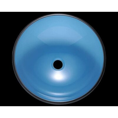 Glass Circular Vessel Bathroom Sink Sink Finish: Aqua