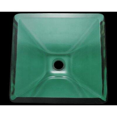 Glass Square Vessel Bathroom Sink Sink Finish: Emerald