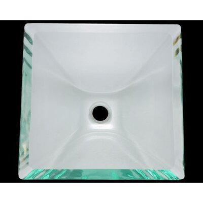 Glass Square Vessel Bathroom Sink Sink Finish: Clear