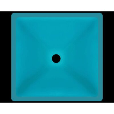 Glass Square Vessel Bathroom Sink Sink Finish: Turquoise