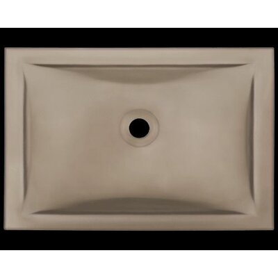 Glass Rectangular Undermount Bathroom Sink Sink Finish: Tan