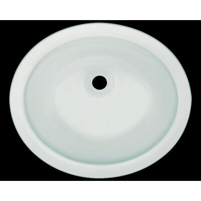 Glass Circular Undermount Bathroom Sink Sink Finish: Frosted