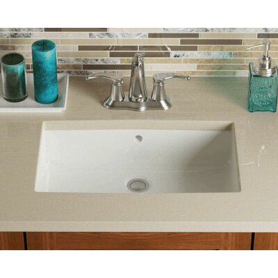 Rectangular Undermount Bathroom Sink Sink Finish: Bisque