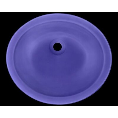 Glass Circular Undermount Bathroom Sink Sink Finish: Aqua