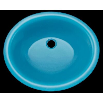 Glass Circular Undermount Bathroom Sink Sink Finish: Turquoise