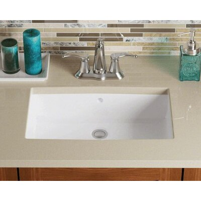 Rectangular Undermount Bathroom Sink Sink Finish: White