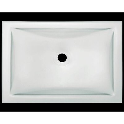 Glass Rectangular Undermount Bathroom Sink Sink Finish: Frosted