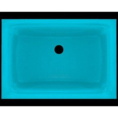 Glass Rectangular Undermount Bathroom Sink Sink Finish: Turquoise