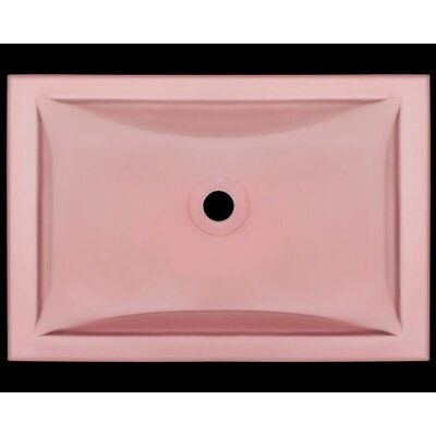 Glass Rectangular Undermount Bathroom Sink Sink Finish: Coral