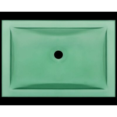 Glass Rectangular Undermount Bathroom Sink Sink Finish: Emerald