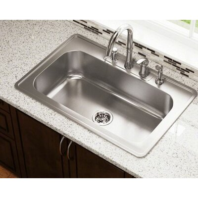 32.88 x 22 Single Bowl Drop-In Stainless Steel Kitchen Sink