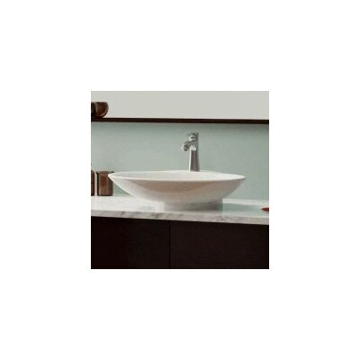Ceramic Oval Vessel Bathroom Sink Sink Finish: Bisque