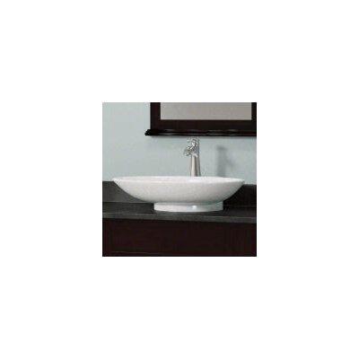 Porcelain Oval Vessel Bathroom Sink Sink Finish: White