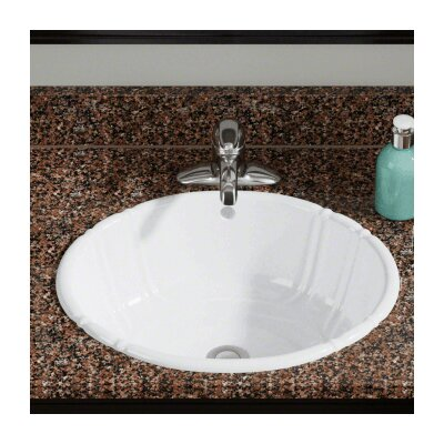 Vitreous China Oval Vessel Bathroom Sink Sink Finish: White