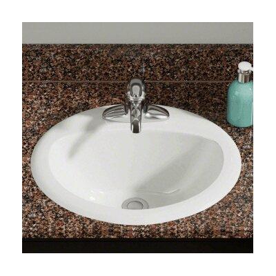 Porcelain Oval Vessel Bathroom Sink Sink Finish: Bisque