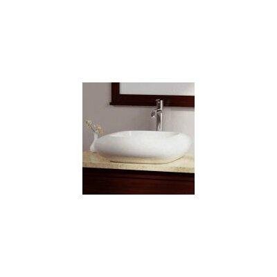 Porcelain Square Vessel Bathroom Sink Sink Finish: Bisque