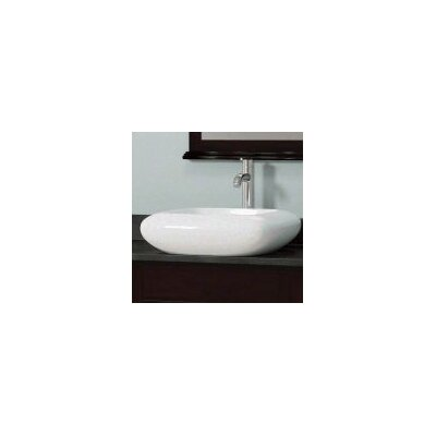 Porcelain Square Vessel Bathroom Sink Sink Finish: White