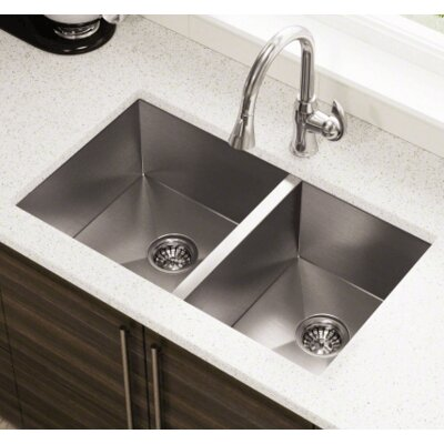 32 x 19 Double Stainless Steel Kitchen Sink