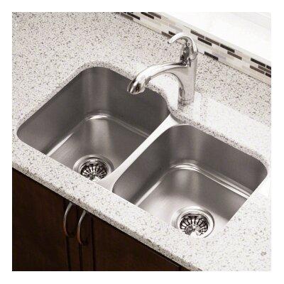 31.75 x 20.5 Double Bowl Undermount Kitchen Sink