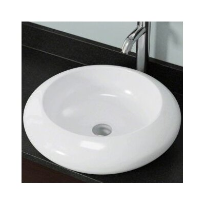 Vitreous China Circular Vessel Bathroom Sink Sink Finish: White