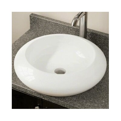 Porcelain Circular Vessel Bathroom Sink Sink Finish: Bisque