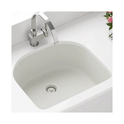 24.75 x 22 Single Undermount Kitchen Sink Finish: White