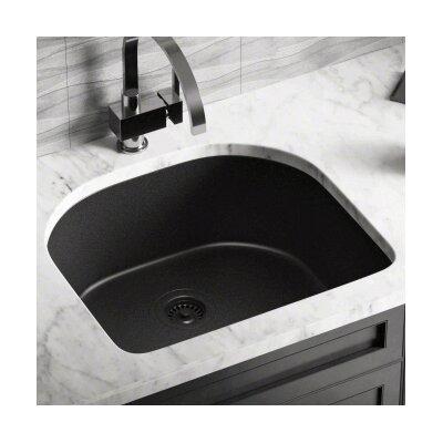 24.75 x 22 Single Undermount Kitchen Sink Finish: Black