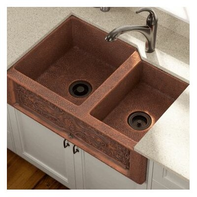 33.25 x 22.25 Double Farmhouse Kitchen Sink