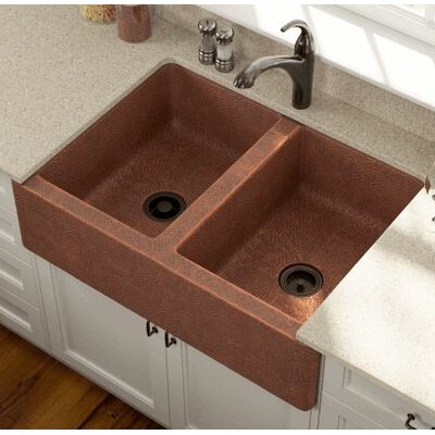 35.13 x 24.75 Equal Double Farmhouse Kitchen Sink