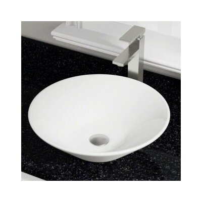 Vitreous China Circular Vessel Bathroom Sink Sink Finish: Bisque