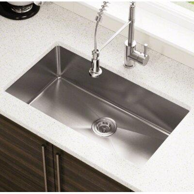 31.25 x 18 Single Basin Undermount Kitchen Sink