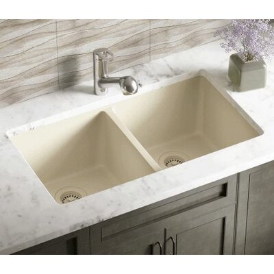 32.5 x 18.63 Double Equal Bowl AstraGranite Kitchen Sink Finish: Beige