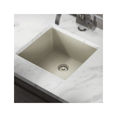 17.75 x 16.88 Single Bowl AstraGranite Kitchen Sink Finish: Slate